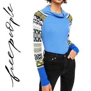 NWT free people blue bell knit top sweater
